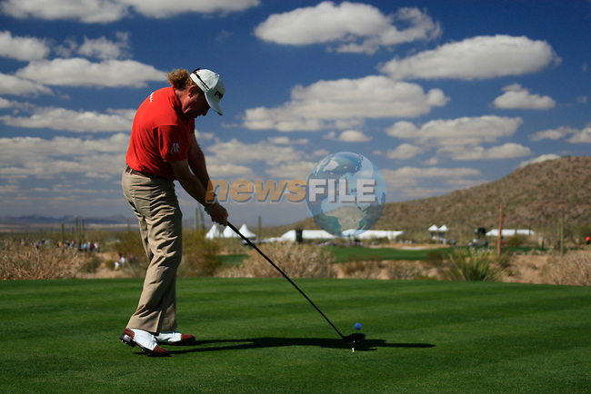 Miguel Angel Jimenez (SPA) in action during Day 2 of the Accenture Match Play Championship from The Ritz-Carlton Golf Club, Dove Mountain, Thursday 24th February 2011. (Photo Eoin Clarke/golffile.ie)