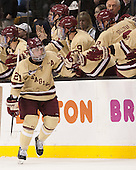 Steven Whitney (BC - 21) - The Boston College Eagles defeated the Northeastern University Huskies 6-3 for their fourth consecutive Beanpot championship on Monday, February 11, 2013, at TD Garden in Boston, Massachusetts.