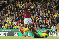 Wesley of Aston Villa in action goes close during Norwich City vs Aston Villa, Premier League Football at Carrow Road on 5th October 2019
