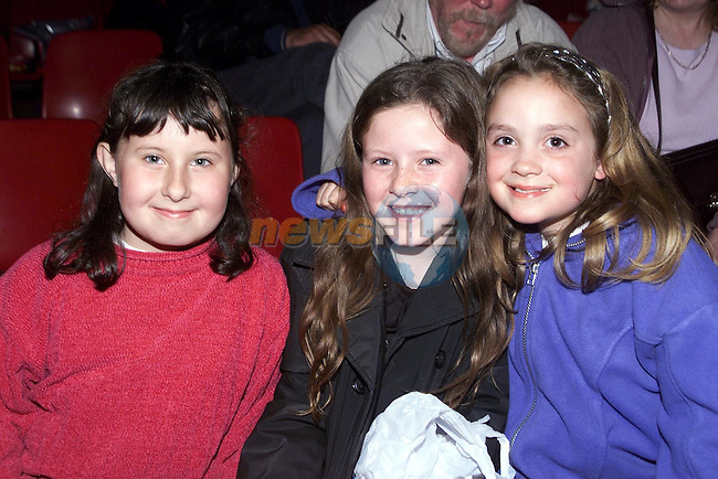 Shauna Murphy, St. Laurances Park, Shauna Grendon, St. Laurances Park and Niamh Tiernan, Yellowbatter at Tom Duffy's circus..Picture Paul Mohan Newsfile