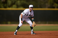 Dartmouth Big Green third baseman Nick Lombardi (20) during a game against the Ball State Cardinals on March 7, 2015 at North Charlotte Regional Park in Port Charlotte, Florida.  Ball State defeated Dartmouth 7-4.  (Mike Janes/Four Seam Images)