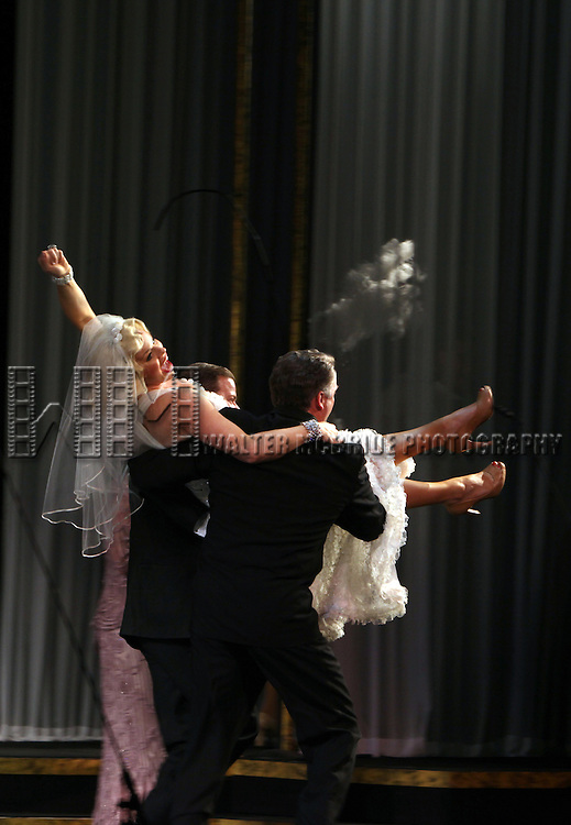 Megan Hilty.during the final performance Curtain Call for the New York City Center ENCORES! Production of 'Gentlemen Prefers Blondes' at City Center in New York City on 5/13/2012.