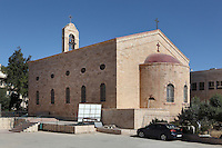 St George's Church, Madaba, Jordan. On the floor of this Greek Orthodox church is the 6th century Byzantine Madaba Mosaic Map. The mosaic is made of 2 million pieces of coloured stone and depicts the Holy Land. It was made 542-570 AD and is the oldest geographic floor mosaic in the world. It was rediscovered in 1884 when the current church was built. Picture by Manuel Cohen