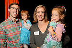 Laura and Eric Greig with Luisa,1, and Eleanor,3, at the M.D. Anderson Halloween party at The Galleria Sunday Oct 25, 2015.(Dave Rossman photo)