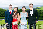 Enjoying the Colaiste na Sceilge Debutante Ball at Ballyroe Heights Hotel on Tuesday were l-r  Dillon O'Sullivan, Leanne O'Neill, Saoirse Kirby and Mattes Gnauck