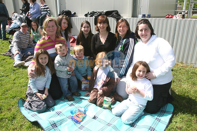 Vincentia McAleer, Helen, Anna and Ann McEvoy, Kareiz McAuley, Tanya McEvoy, Orla McEvoy, Sean and Alex McAleer, Bethany Collier and Gretta McEvoy at the Fundraising BBQ in Termonfeckin National School...Photo NEWSFILE/Jenny Matthews.(Photo credit should read Jenny Matthews/NEWSFILE)....This Picture has been sent you under the condtions enclosed by:.Newsfile Ltd..The Studio,.Millmount Abbey,.Drogheda,.Co Meath..Ireland..Tel: +353(0)41-9871240.Fax: +353(0)41-9871260.GSM: +353(0)86-2500958.email: pictures@newsfile.ie.www.newsfile.ie.FTP: 193.120.102.198.