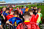 East Kerry Manager Jerry O'Sullivan talks to the team after the Kerry Senior Football County Championship Semi Final between Dingle and East Kerry at Austin Stack Park on Sunday.
