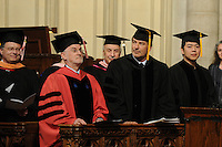 Actor Alec Baldwin and pianst Lang Lang receive honorary Doctor of Musical Arts degrees at the 2012 Commencement of the Manhattan School of Music at Riverside Church in New York City. May 11, 2012. ©mpi01/MediaPunch Inc.