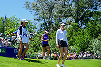 Kim Kaufman (USA) and Gerina Piller (USA) depart the first tee during Sunday's final round of the 2017 KPMG Women's PGA Championship, at Olympia Fields Country Club, Olympia Fields, Illinois. 7/2/2017.<br /> Picture: Golffile | Ken Murray<br /> <br /> <br /> All photo usage must carry mandatory copyright credit (&copy; Golffile | Ken Murray)