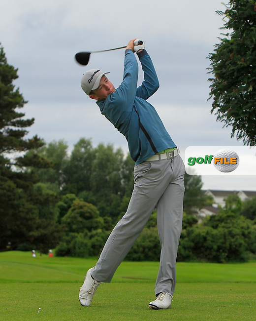 Harry Gillivan (Westport) on the 15th tee during R2 of the 2016 Connacht U18 Boys Open, played at Galway Golf Club, Galway, Galway, Ireland. 06/07/2016. <br /> Picture: Thos Caffrey | Golffile<br /> <br /> All photos usage must carry mandatory copyright credit   (&copy; Golffile | Thos Caffrey)