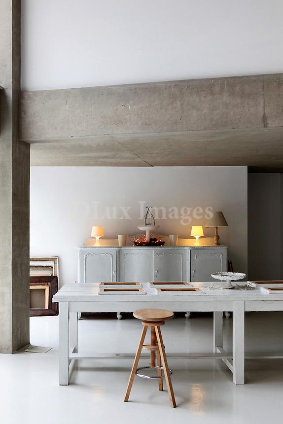 minimal white table