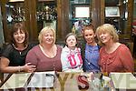 Maura Carmody, Cloghers, Tralee had a great time celebrating her 45th birthday in Gally's bar/restaurant, Castlemaine Rd, Tralee last Thursday night, with Aileen Carmody Switzer, Kate O'Brien Carmody, Maura Carmody, Ciara O'Mahony and Joanne Carmody O'Mahony.