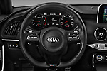 Car pictures of steering wheel view of a 2018 KIA Stinger GT-Line 5 Door Hatchback
