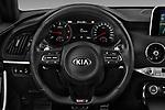 Car pictures of steering wheel view of a 2018 KIA Stinger GT-Line 5 Door Hatchback