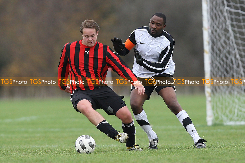 Highfield (white/black) vs Midfield (Hackney) - Hackney & Leyton Sunday League Football at South Marsh, Hackney Marshes, London - 04/12/11 - MANDATORY CREDIT: Gavin Ellis/TGSPHOTO - Self billing applies where appropriate - 0845 094 6026 - contact@tgsphoto.co.uk - NO UNPAID USE.