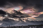 Dramatic Arctic cloud formations