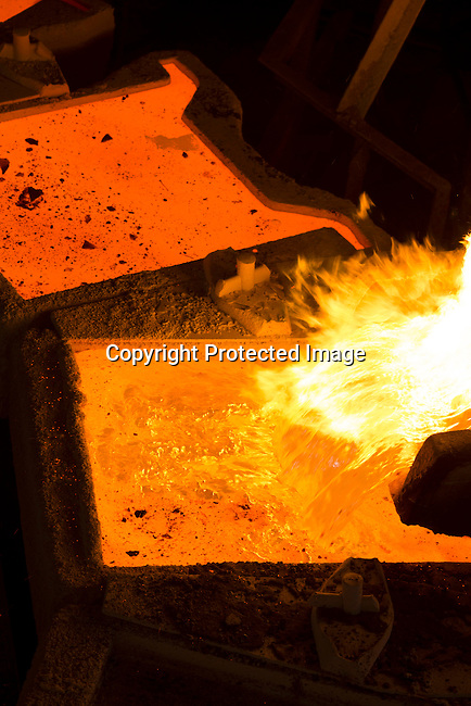 MUFULIRA, ZAMBIA- JULY 6: The copper smelter at Mopani Mines on July 6, 2016 in Mufulira, Zambia. The copper is trucked to ports such as Dar es Salaam, Tanzania & Durban, South Africa. Glencore, an Anglo-Swiss multinational commodity trading and mining company, owns about 73 % of Mopani mines, which produces copper and some cobalt. The mine employs about 15,000 people. Many people in the area are dependent of the mines and its subcontractors for work. (Photo by Per-Anders Pettersson)