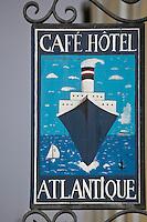 Europe/France/Bretagne/56/Morbihan/ Belle-Ile-en-Mer/Le Palais:  Enseigne d'un Café