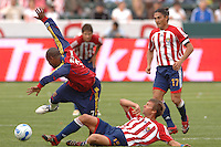 Real Salt Lake's Andy Williams has the ball taking away from him by CD Chivas Jesse Marsch in the second half at the Home Depot Center in Carson, CA on Saturday night, April 2, 2006..(Matt A. Brown/ISI)