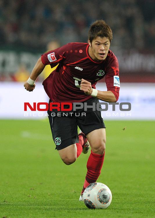04.10.2013, HDI Arena, Hannover, GER, 1.FBL, Hannover 96 vs Hertha BSC, im Bild Hiroki Sakai (Hannover #4)<br /> <br /> Foto &copy; nph / Frisch