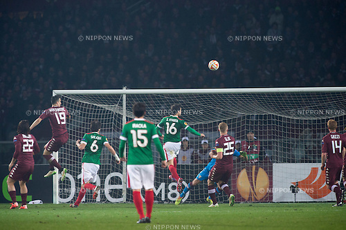 Carlos Gurpegui (Bilbao), FEBRUARY 19, 2015 - Football / Soccer : Carlos Gurpegui of Bilbao scores their team second goal during the UEFA Europa League, round of 32 first leg match between Torino FC 2-2 Athletic Club Bilbao at Stadio Olimpico di Torino in Turin, Italy. (Photo by Maurizio Borsari/AFLO)