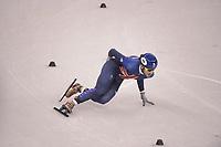 OLYMPIC GAMES: PYEONGCHANG: 17-02-2018, Gangneung Ice Arena, Short Track, Farrell Treacy (GBR), ©photo Martin de Jong