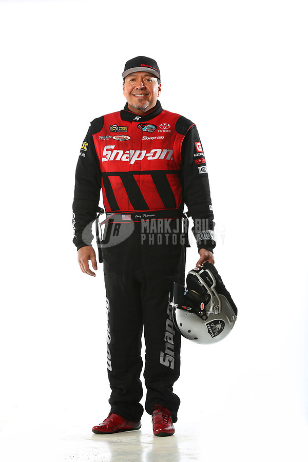 Feb 7, 2018; Pomona, CA, USA; NHRA funny car driver Cruz Pedregon poses for a portrait during media day at Auto Club Raceway at Pomona. Mandatory Credit: Mark J. Rebilas-USA TODAY Sports
