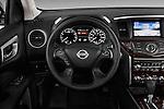Steering wheel view of a 2013 Nissan Pathfinder  SUV