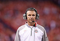 Ohio State Buckeyes head coach Urban Meyer seen in the third quarter of the Big Ten Championship game between the Ohio State Buckeyes and the Wisconsin Badgers at Lucas Oil Stadium in Indianapolis, Saturday night, December 6, 2014. As of half time the Ohio State Buckeyes led the Wisconsin Badgers 38 - 0. (The Columbus Dispatch / Kyle Robertson)