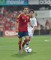 07.09.2012 Pontevedra, Spain. Friendly match between teams from Saudi Arabia vs Spain (4-0). Pasarón played at the stadium. The photo shows Xavier Hernandez Creus (Spanish midfielder of Barcelona)
