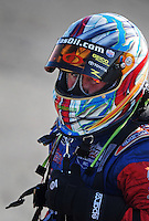 Sept. 5, 2010; Clermont, IN, USA; NHRA top fuel dragster driver Shawn Langdon during qualifying for the U.S. Nationals at O'Reilly Raceway Park at Indianapolis. Mandatory Credit: Mark J. Rebilas-