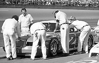 Cale yarborough pit crew pits Daytona 500 at Daytona International Speedway in Daytona Beach, FL in February 1985. (Photo by Brian Cleary/www.bcpix.com) Daytona 500, Daytona International Speedway, Daytona Beach, FL, February 1985. (Photo by Brian Cleary/www.bcpix.com)