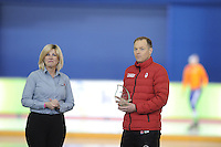 SPEED SKATING: CALGARY: Olympic Oval, 08-03-2015, ISU World Championships Allround, Bart Schouten (CAN) kreeg een Canadese coach award, ©foto Martin de Jong
