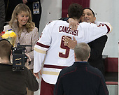 Diane Cangelosi, Austin Cangelosi (BC - 9), Andy Cangelosi - The visiting University of Vermont Catamounts tied the Boston College Eagles 2-2 on Saturday, February 18, 2017, Boston College's senior night at Kelley Rink in Conte Forum in Chestnut Hill, Massachusetts.Vermont and BC tied 2-2 on Saturday, February 18, 2017, Boston College's senior night at Kelley Rink in Conte Forum in Chestnut Hill, Massachusetts.