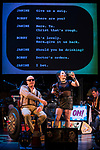 REASONS TO BE CHEERFUL by Sirett;<br /> Beth Hinton-Lever as Janine;<br /> Gerard McDermott as Bill/Bobby;<br /> Directed by Sealey;<br /> Graeae Theatre Company;<br /> at The Belgrade Theatre, Coventry, UK;<br /> 8 September 2017;<br /> Credit: Patrick Baldwin;