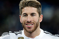 Sergio Ramos of Real Madrid during La Liga match between Real Madrid and Sevilla at Santiago Bernabeu Stadium in Madrid, Spain. February 04, 2015. (ALTERPHOTOS/Caro Marin) /NORTEphoto.com