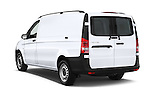 Car pictures of rear three quarter view of 2018 Mercedes Benz Metris Cargo-Van 4 Door Cargo Van Angular Rear