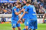 10.03.2019, Prezero-Arena, Sinsheim, GER, 1 FBL, TSG 1899 Hoffenheim vs 1. FC Nuernberg, <br /> <br /> DFL REGULATIONS PROHIBIT ANY USE OF PHOTOGRAPHS AS IMAGE SEQUENCES AND/OR QUASI-VIDEO.<br /> <br /> im Bild: Andrej Kramaric (TSG Hoffenheim #27) jubelt ueber sein Tor zum 1:0 mit Ermin Bicakcic (TSG Hoffenheim #4)<br /> <br /> Foto &copy; nordphoto / Fabisch