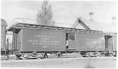 Baggage car #127 built by D&amp;RG as #28 in 1883.  Renumbered in 1885/1886.<br /> D&amp;RGW    Taken by Best, Gerald M.