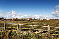 Pictured: The Trostre Works, owned by Tata Steel on the outskirts of Llanelli. Wednesday 09 March 2018<br /> Re: The effect that the Scarlets RFC has had in the town of Llanelli in Carmarthenshire and the west Wales region.