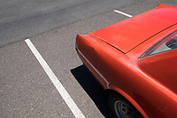 Heidi Wickersham's 1964.5 Ford Mustang parked in a parking lot in Richland, Washington.