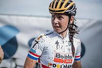 Nikki Brammeier (GBR/Boels Dolmans) post race.<br /> cx Telenet Superprestige Gieten 2017 (NED)