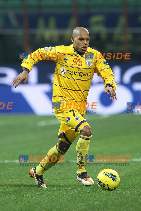 "Jonathan Biabiany Parma.Milano 07/01/2012 Stadio ""S.Siro"".Football / Calcio Serie A 2011/2012.Inter vs Parma.Foto Insidefoto Paolo Nucci"