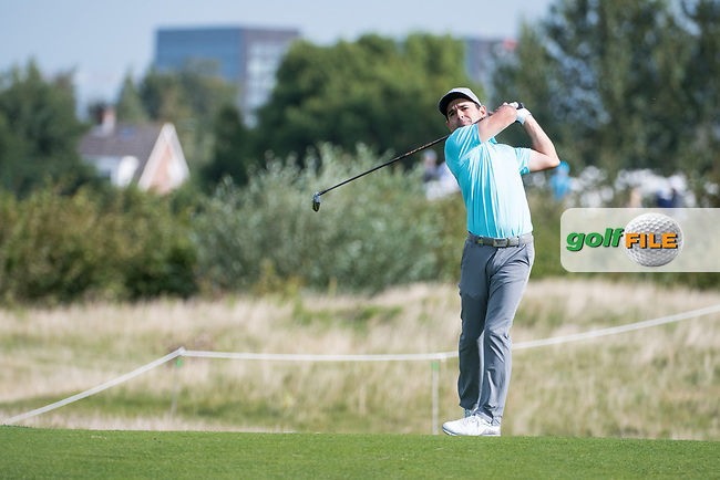 Fabrizio Zanotti (PAR) in action on the 15th hole during the 1st round at the KLM Open, The International, Amsterdam, Badhoevedorp, Netherlands. 12/09/19.<br /> Picture Stefano Di Maria / Golffile.ie<br /> <br /> All photo usage must carry mandatory copyright credit (© Golffile | Stefano Di Maria)