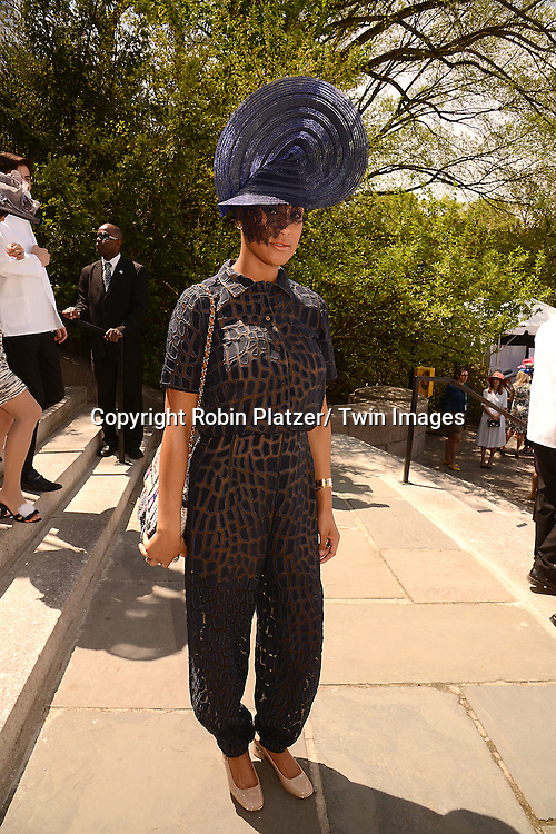 Kimberly Chandler, Tyson Chandler's wife, attends the 32nd Annual Frederick Law Olmsted Awards Hat Luncheon given by The Central Park Conservancy on May 7,2014 in Central Park in New York City, NY USA.