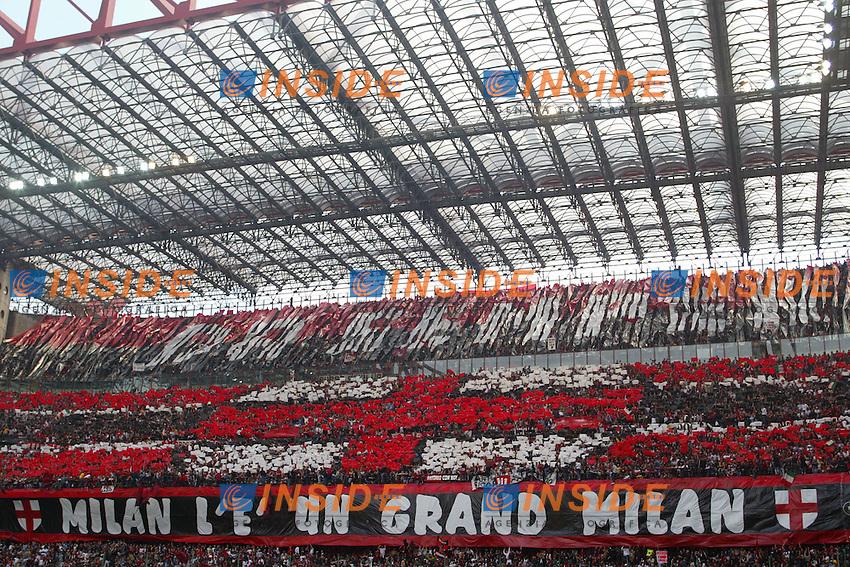 Milano 2/5/2004 Campionato Italiano Serie A - Matchday 32<br /> Milan Roma 1-0 <br /> Milan Campione d'Italia - Milan wins italian championship <br /> La curva del Milan<br /> Milan fans