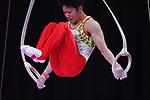 Ä Shogo Nonomura (JPN), <br /> AUGUST 20, 2018 - Artistic Gymnastics : Men's Individual All-Around Rings at JIEX Kemayoran Hall D during the 2018 Jakarta Palembang Asian Games <br /> in Jakarta, Indonesia. <br /> (Photo by MATSUO.K/AFLO SPORT)