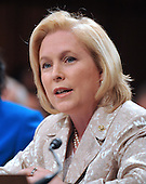 Washington, DC - July 13, 2009 -- United States Senator Kirsten Gillibrand (Democrat of New York) makes her introductory remarks about Judge Sonia Sotomayor's nomination as Associate Justice of the U.S. Supreme Court before the U.S. Senate Judiciary Committee considers the nomination of  on Monday, July 13, 2009.  .Credit: Ron Sachs / CNP