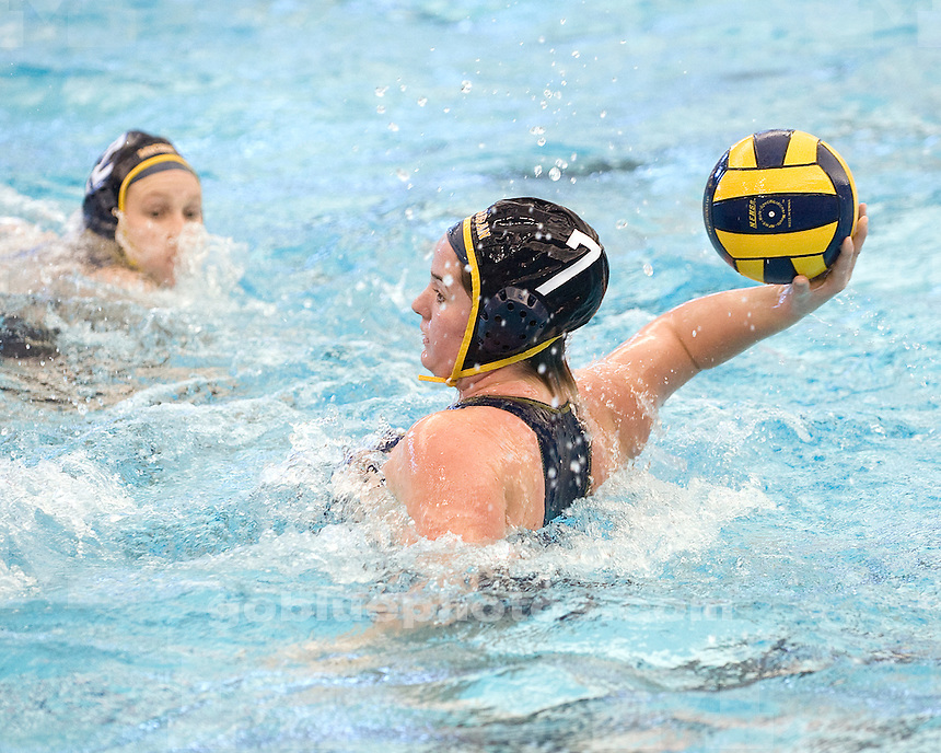 The University of Michigan women's water polo team lost 6-3 to No. 10 Indiana University at Canham Natatoriumin Ann Arbo, Mich., on January 21, 2012.