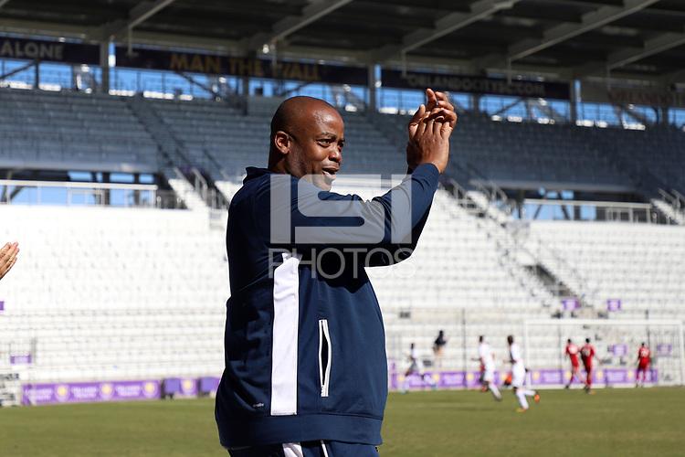 Orlando, Florida - Wednesday January 17, 2018: Bo Oshoniyi. Match Day 3 of the 2018 adidas MLS Player Combine was held Orlando City Stadium.